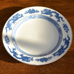Booths Dragon 9780 Vintage Blue & White Silicon China Side Plate 1933