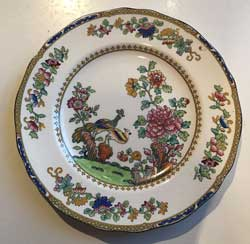 Copeland late Spode pheasant pattern salad plate antique