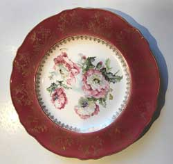 Royal Winton Grimwades Poppies Pattern Gilded Plate