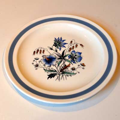 Wood & Sons Blue Meadow Dinner plates